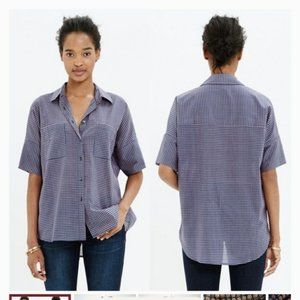 Madewell courier shirt geobud top